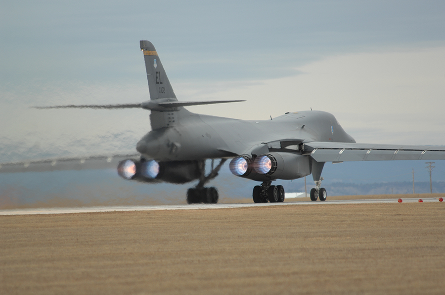 B1B Bomber Taking Off