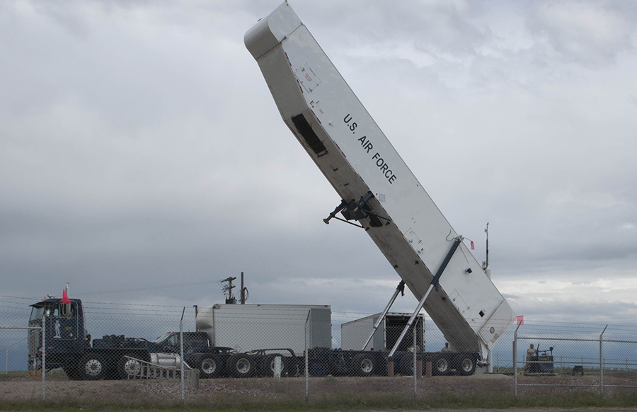FE AFB Pulling A Missile