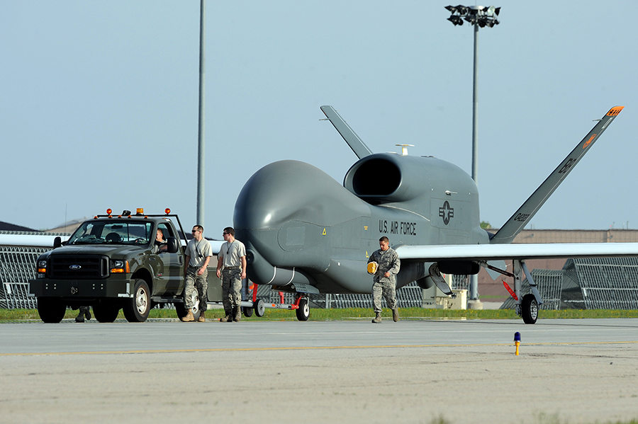 First RQ-4 At Grand Forks AFB