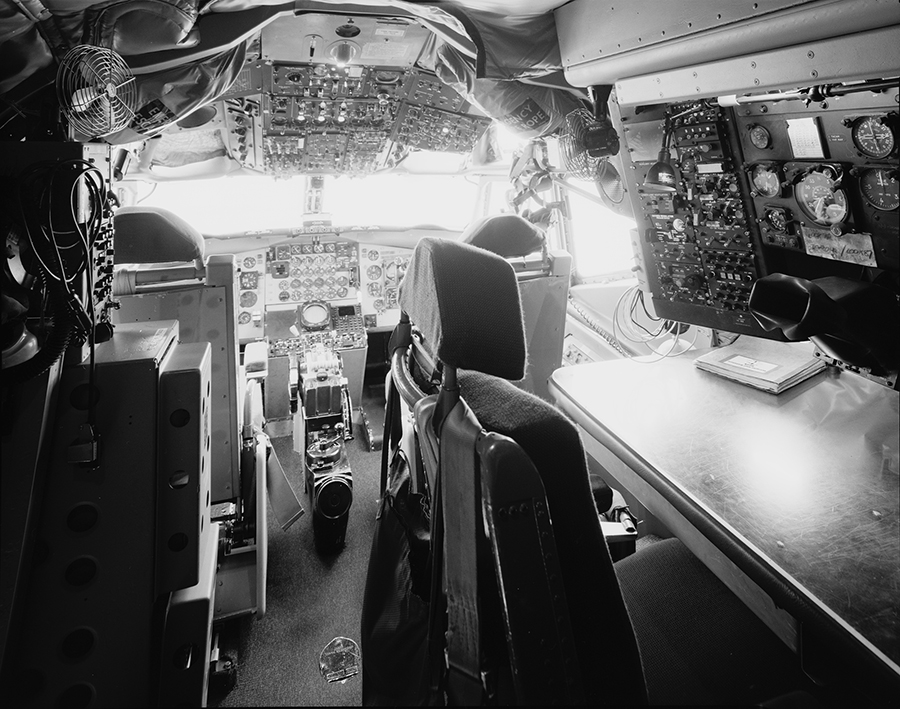 Boeing EC-135 Cockpit With Flight Engineer Station