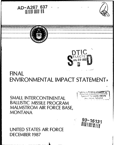 Small ICBM Environmental Impact Statement Cover